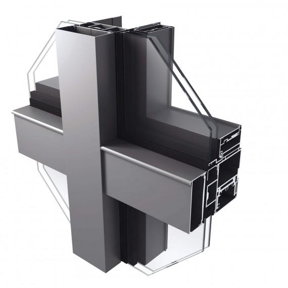 Ahatech - Hệ mặt dựng Semi – Unitized